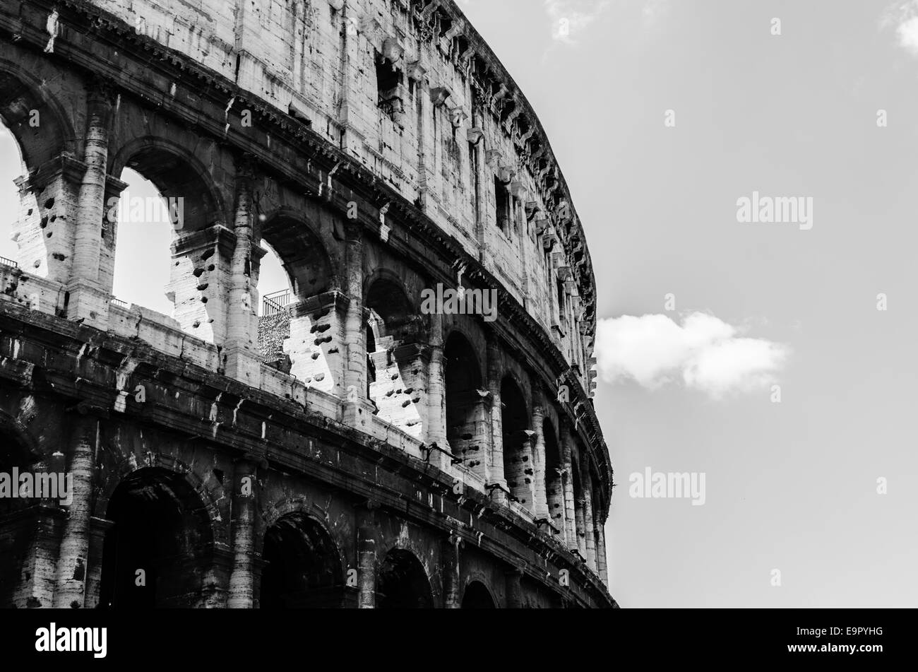 Rome the colosseum or coliseum also known as the flavian amphitheatre stock