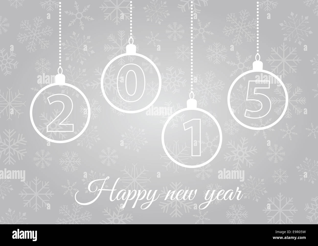 New Years Silver Greeting Card For 2015 Stock Photo 74878437 Alamy