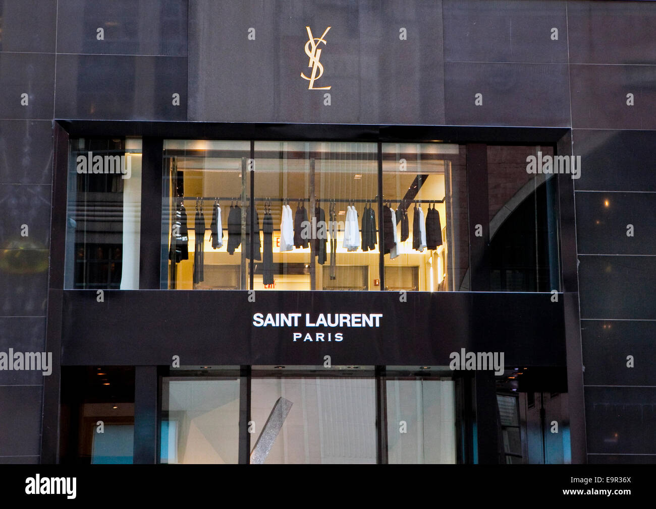view saint laurent store in stock photos view saint laurent store in stock images alamy. Black Bedroom Furniture Sets. Home Design Ideas