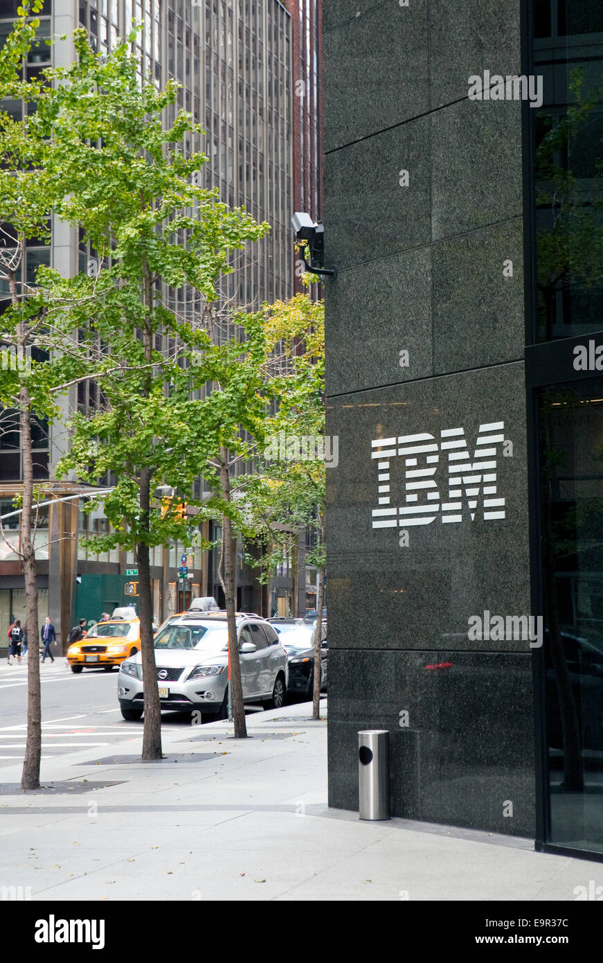 A view of IBM's building in New York - Stock Image