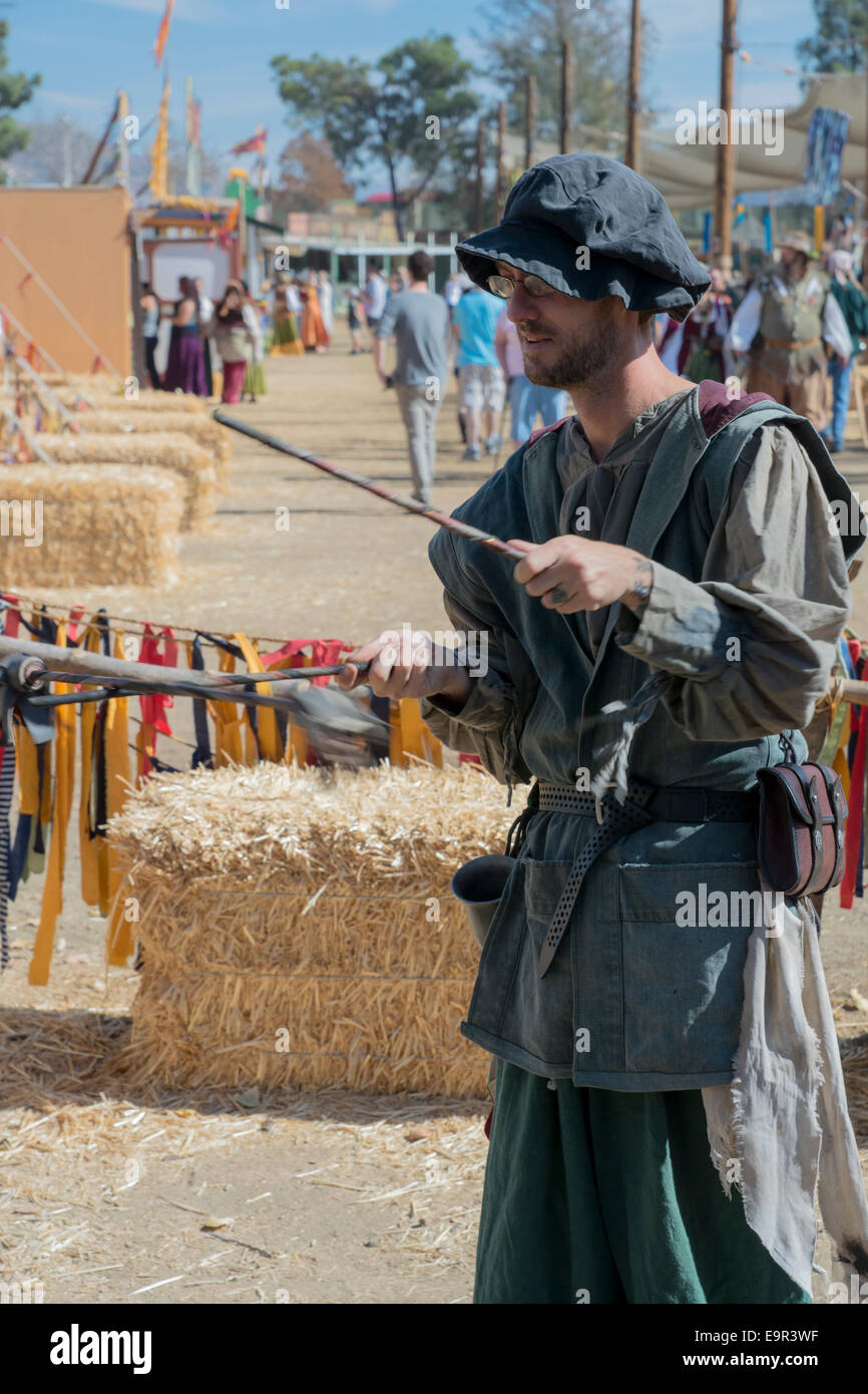 Juggling at the Renaissance Faire - Stock Image