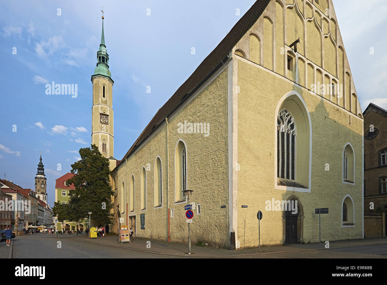 Trinity Church at Obermarkt square Görlitz, Saxony, Germany - Stock Image