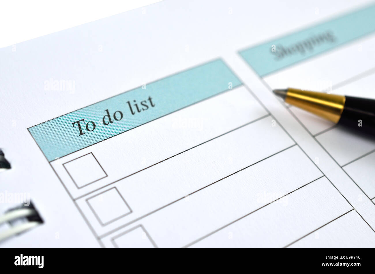 to do list on a notebook representing things to do when organizing a