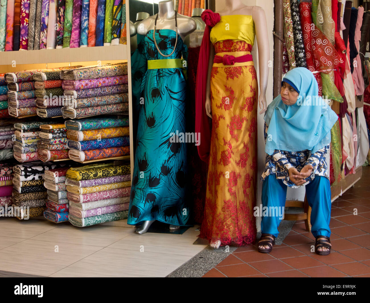 Muslim carpet and fashion and textiles shops in Arab Street