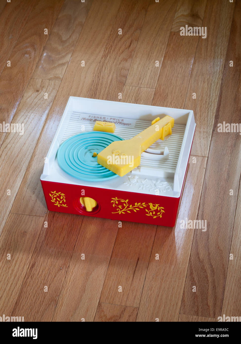 A Fisher-Price Classic Record Player (Fisher Price Change-A-Record Music Box). - Stock Image