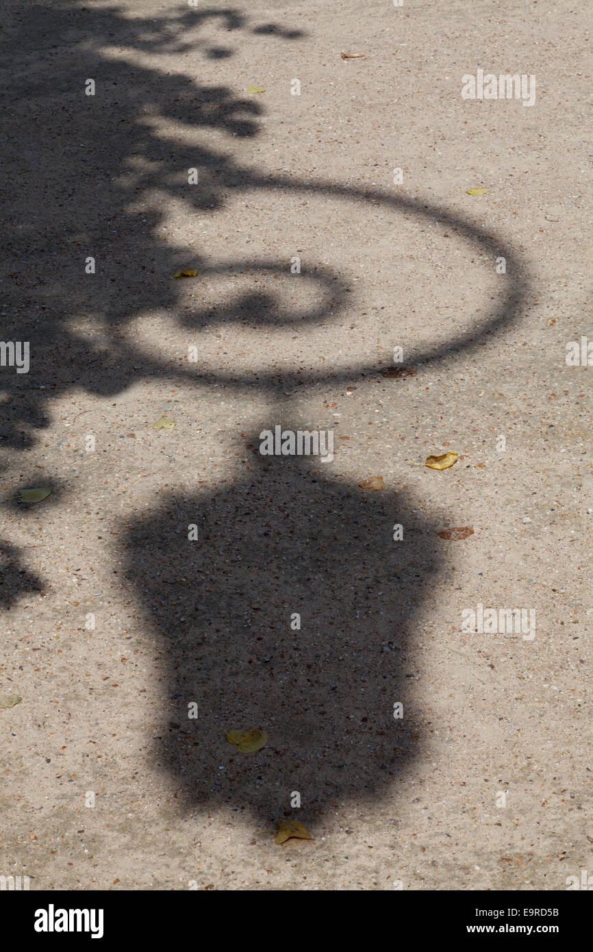 shadow streetlamp - Stock Image
