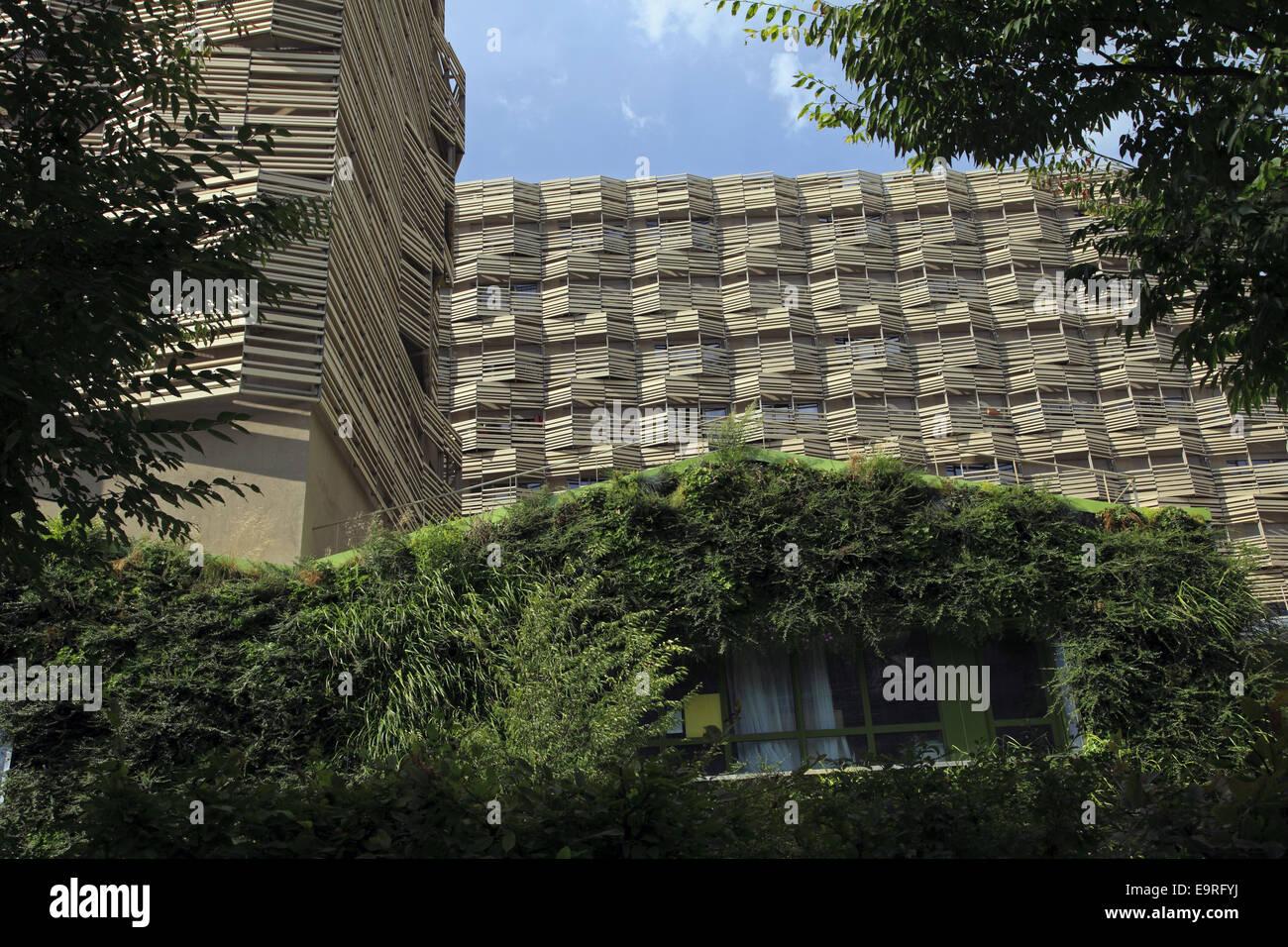 Eco-neighborhood labeled New Urban Area, Clichy-Batignolles, Paris, France Stock Photo