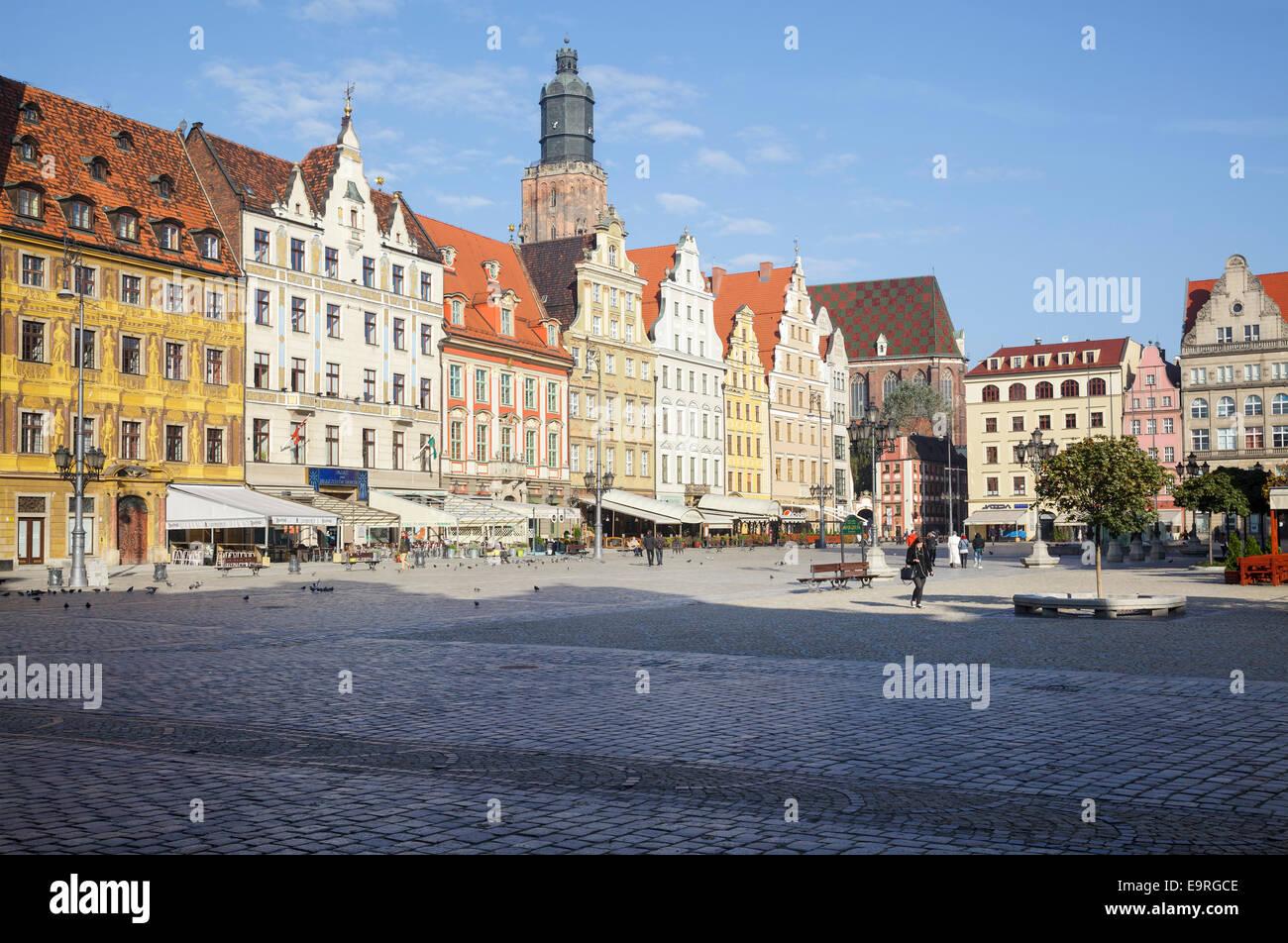 Market Square Rynek we Wrocławiu, Wroclaw, Poland - Stock Image