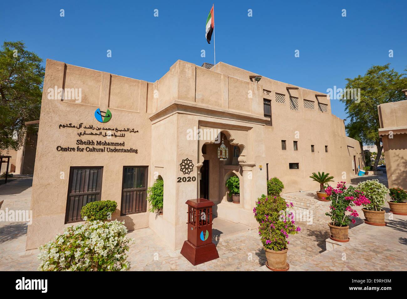 Sheikh Mohammed Centre For Cultural Understanding Al Bastakiya Historic Quarter Bur Dubai UAE - Stock Image