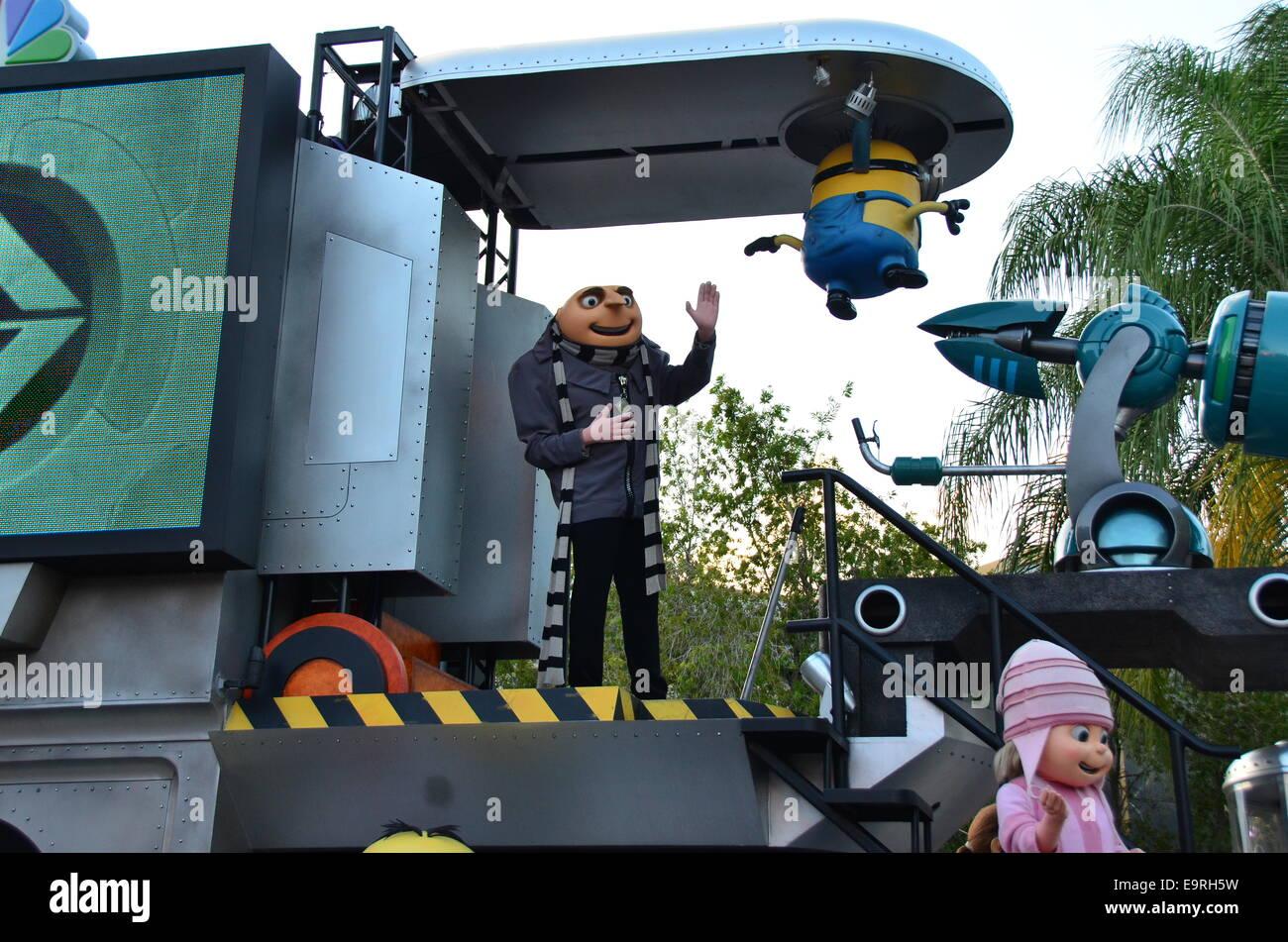 Despicable Me Minion Mayhem the 3D Ultra HD digital animation adventure at Universal Studio's Orlando, Florida. - Stock Image