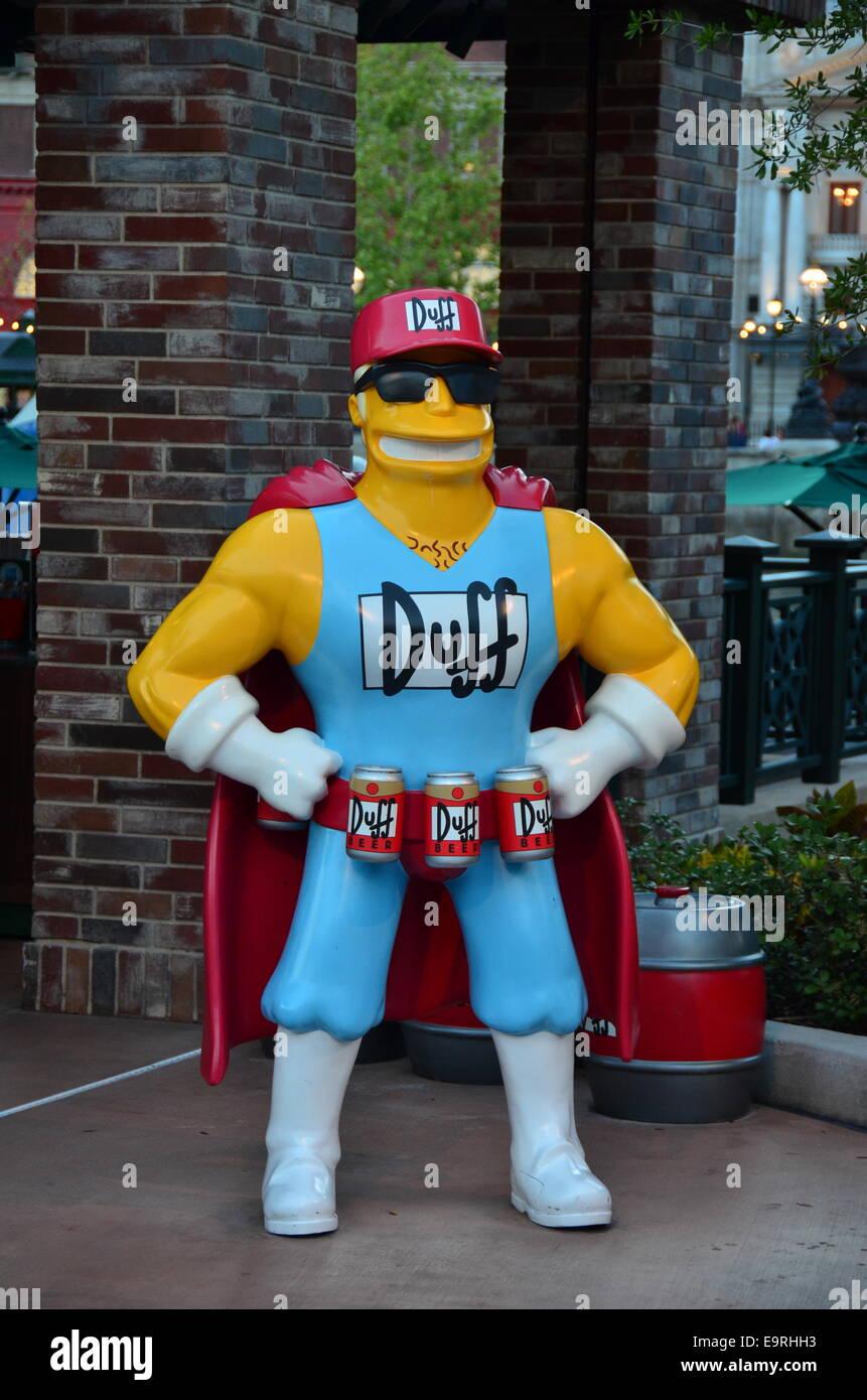 In The Simpson's Area at Universal Studios Orlando, Florida - Stock Image
