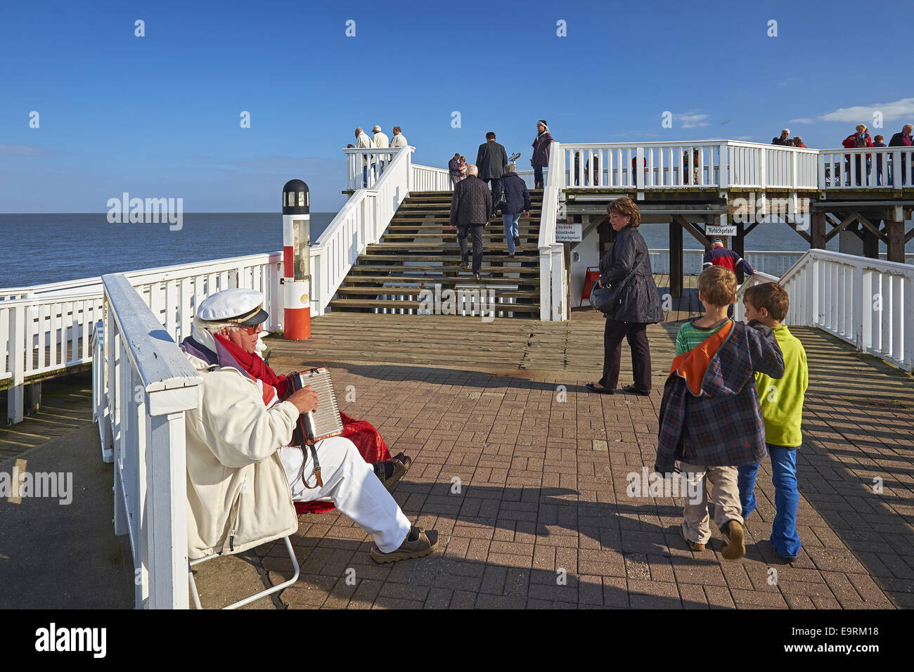 Pier Alte Liebe, Cuxhaven, Germany - Stock Image
