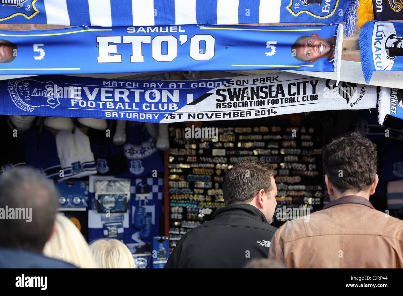 Liverpool, UK. Saturday 01 November 2014  Pictured:   Re: Premier League Everton v Swansea City FC at Goodison Park, Stock Photo