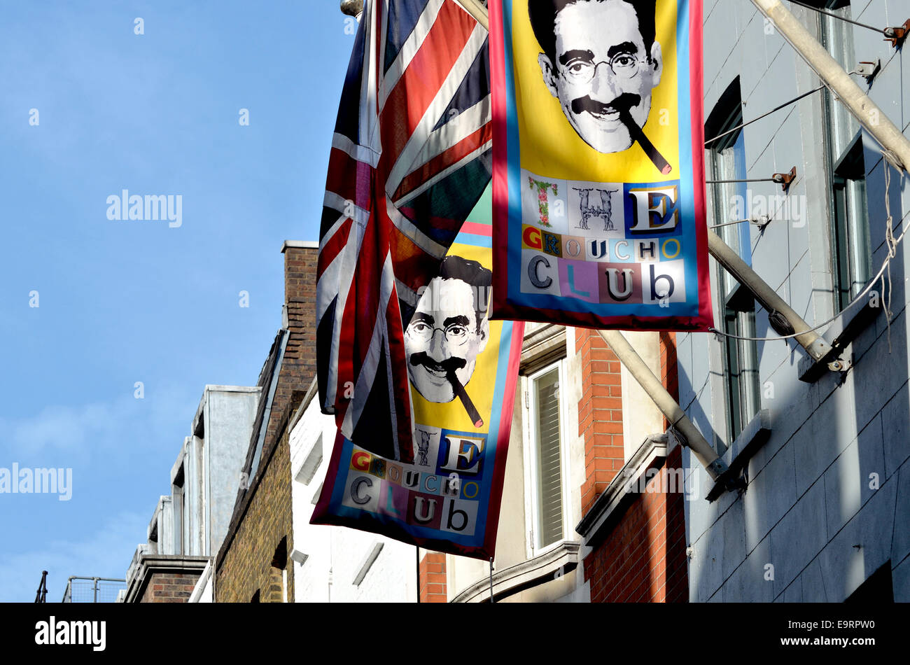 London, England, UK. The Groucho Club in Dean Street, Soho - Stock Image