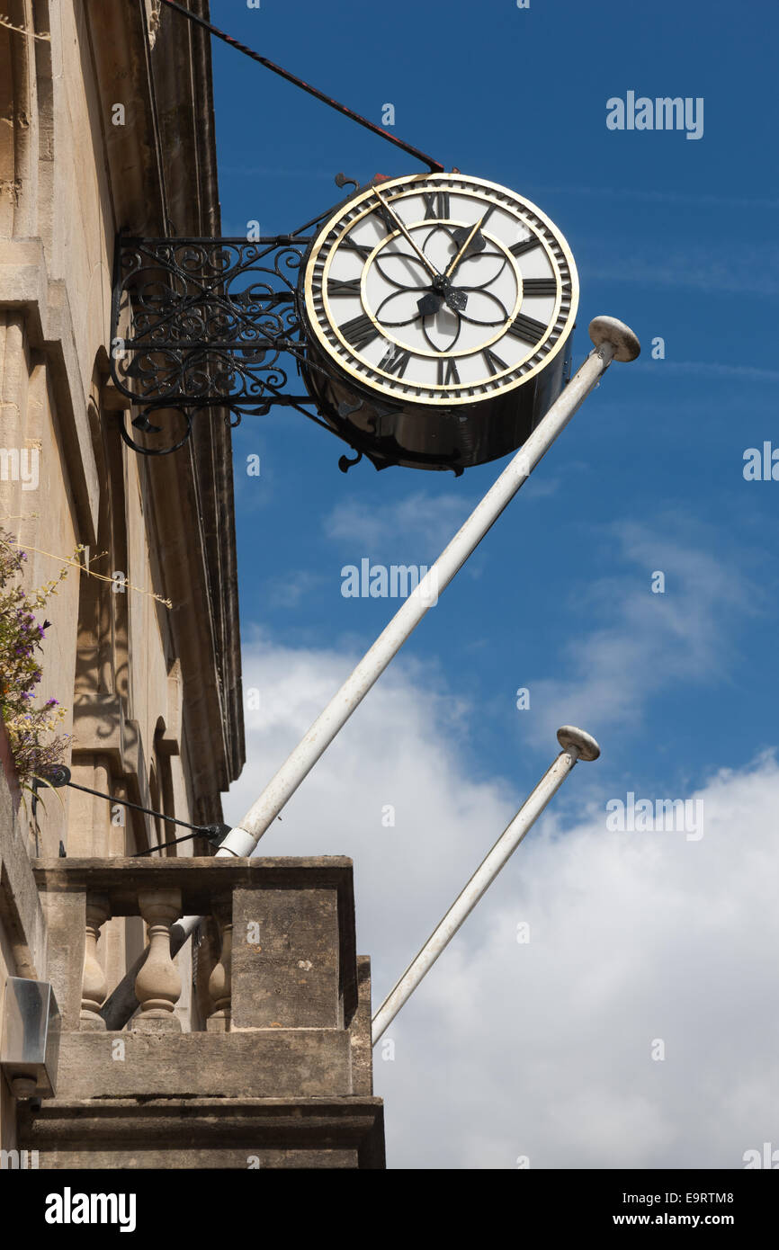 Corsham Town Hall with flagpoles and clock Stock Photo