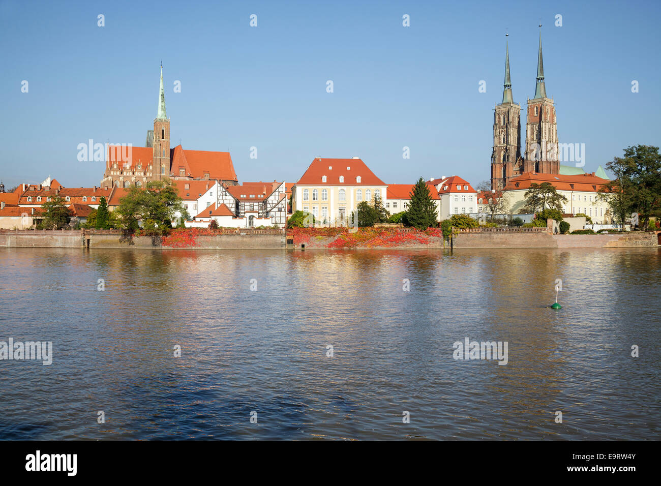 Cathedral Island Ostrow Tumski, Wroclaw, Poland Stock Photo
