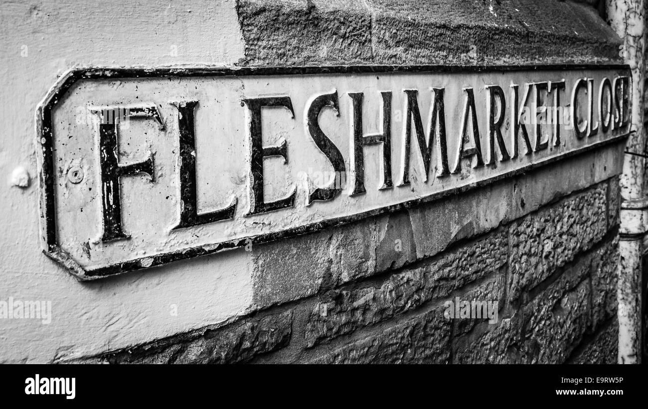 Fleshmarket Close, Edinburgh, Scotland. Also the title of Edinburgh writer's Ian Rankin's number one bestselling - Stock Image