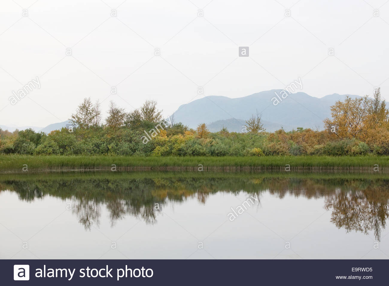 Keinovuopio, a border river in Finnish Lapland - Stock Image