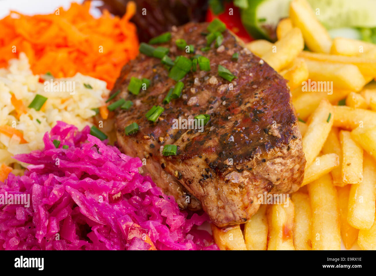 meat steak close up - Stock Image