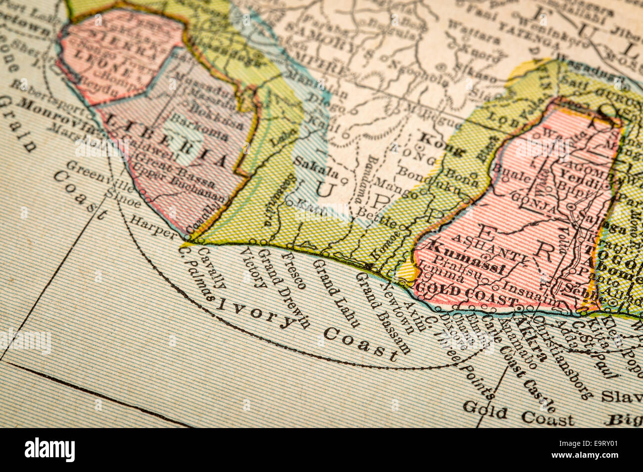 Map Of Coast Of Africa Stock Photos Map Of Coast Of Africa Stock