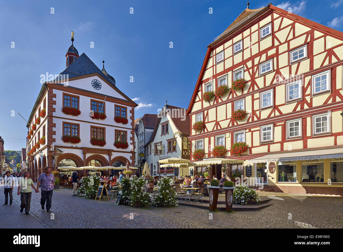 City hall in the old town lohr am main bavaria germany for Ps tischdesign lohr am main