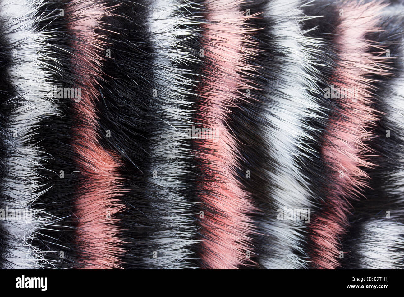 abstract painted fur background - Stock Image