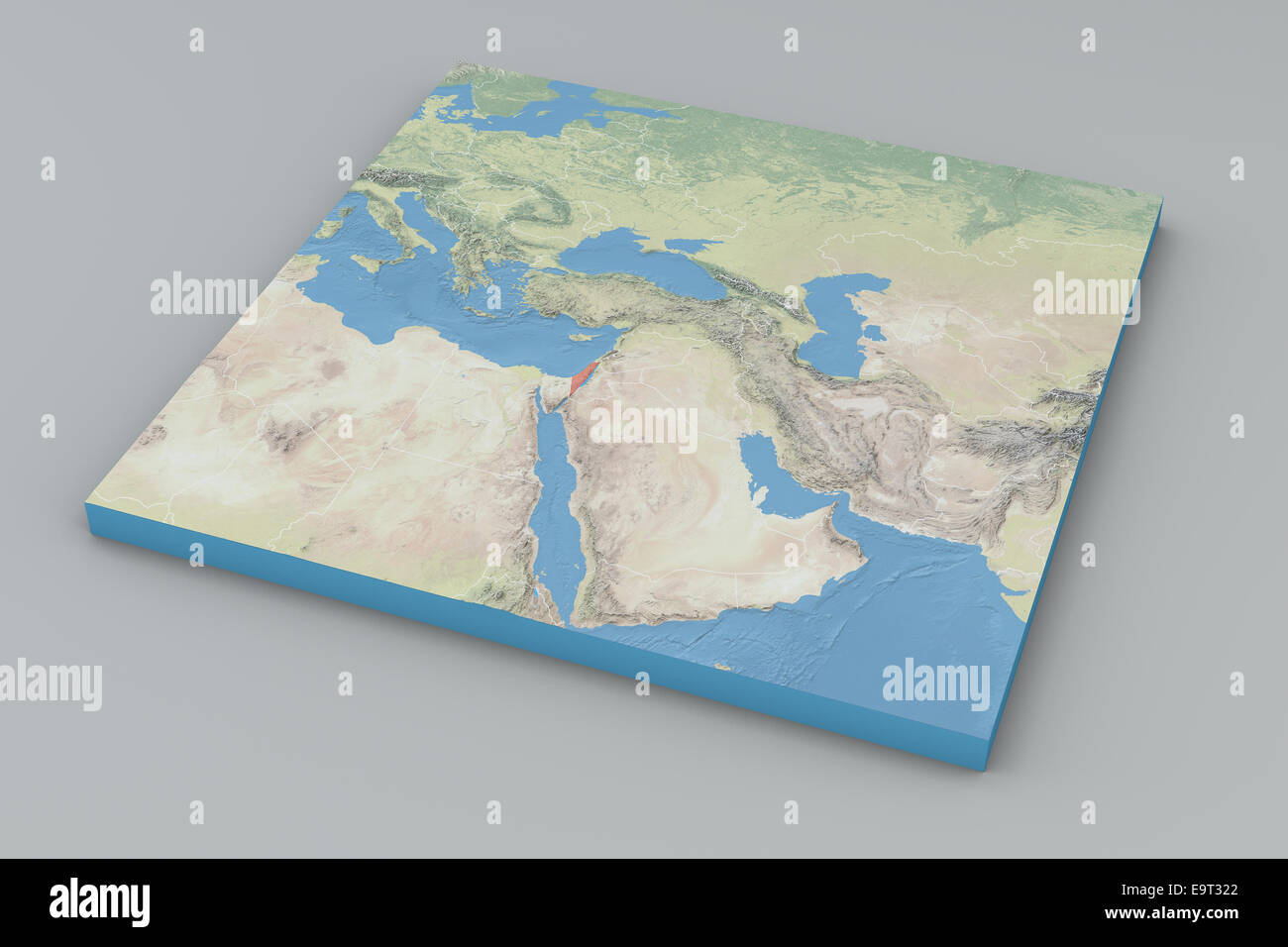 World Map, middle east, Israel. Elements of this image ...