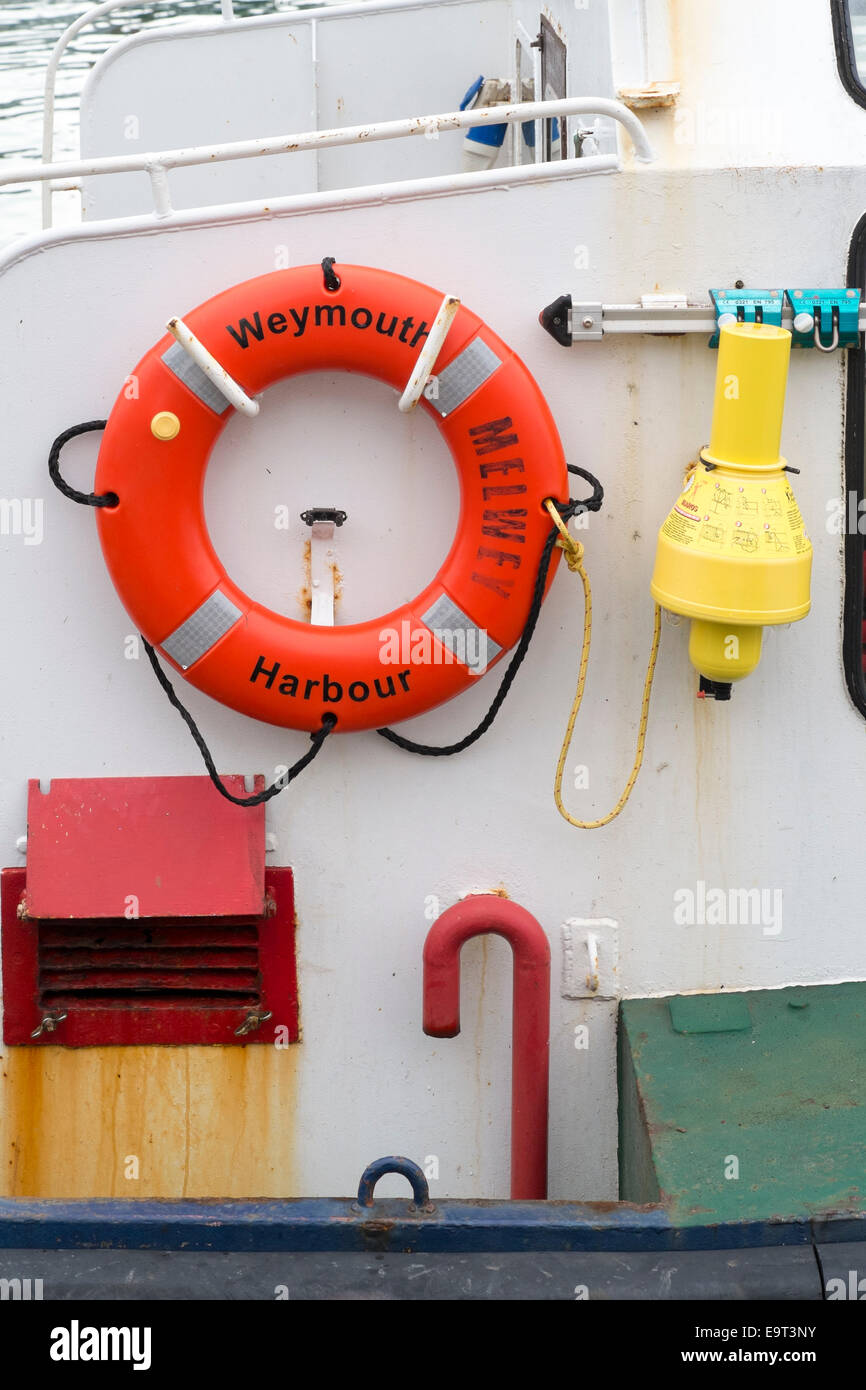 Boats safety equipment - Stock Image