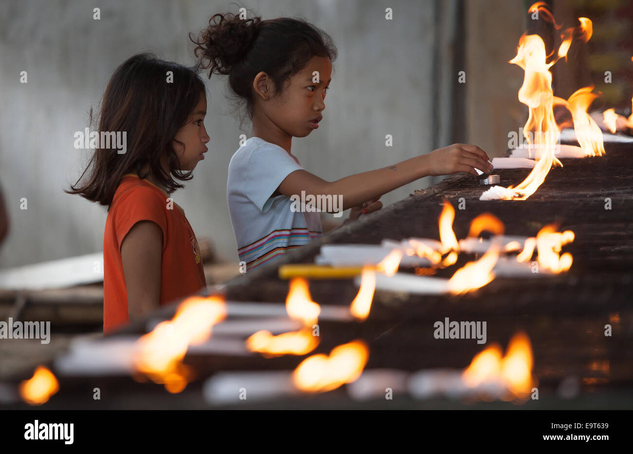 All Saints Day & All Souls Day falling on the 1st November & 2nd November respectively is one of the busiest - Stock Image