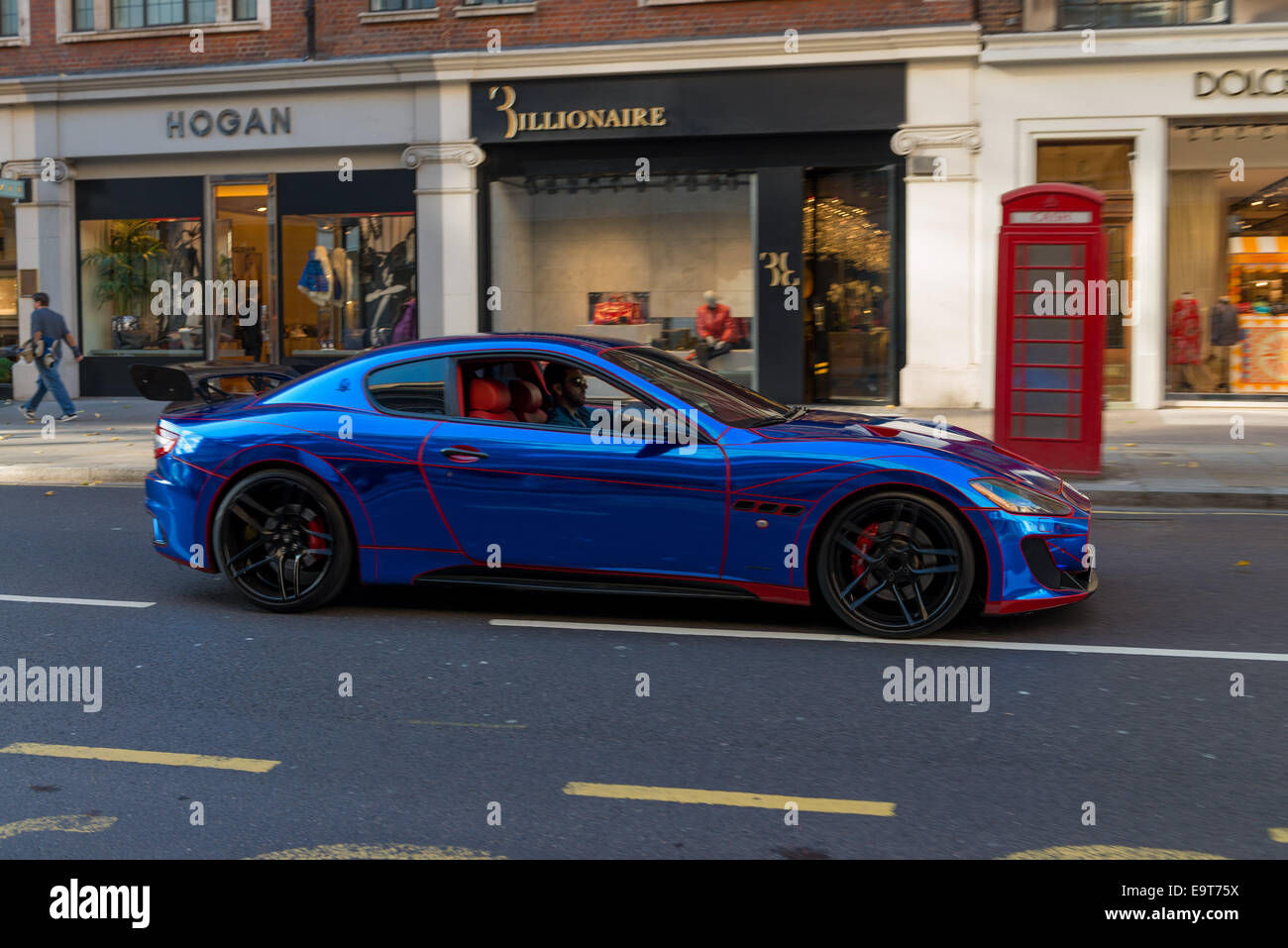 London:The Maserati GranTurismo Sport Car Spotted In Knightsbridge.   Stock  Image