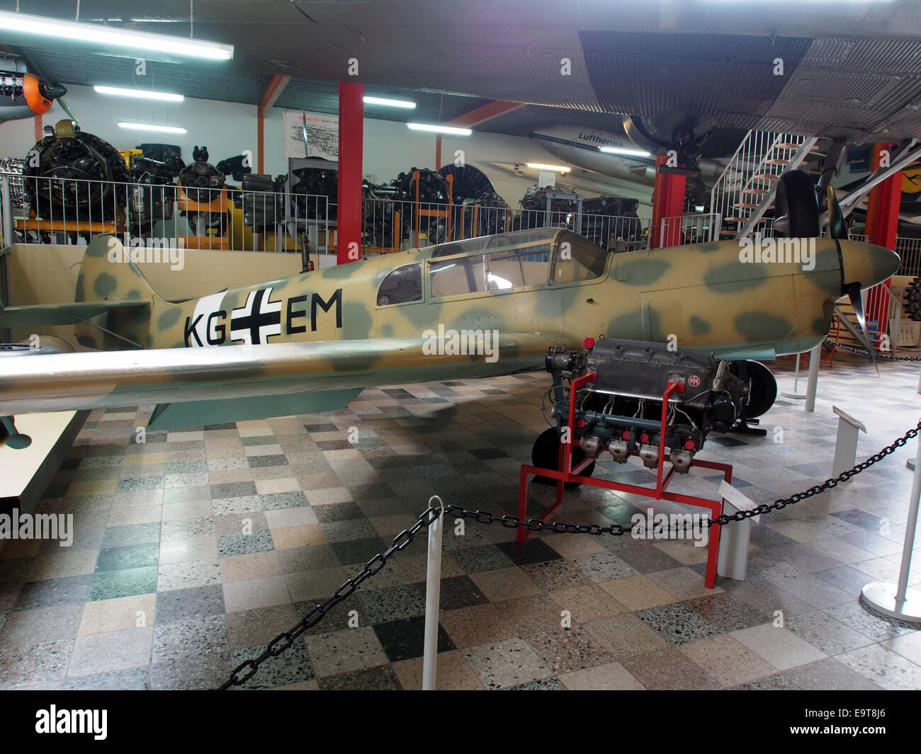 Nord 1002 - German Air Force KG EM at Flugausstellung Hermeskeil, pic1 - Stock Image