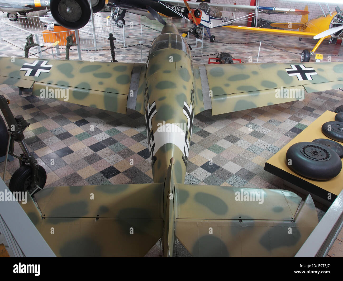Nord 1002 - German Air Force KG EM at Flugausstellung Hermeskeil, pic2a - Stock Image