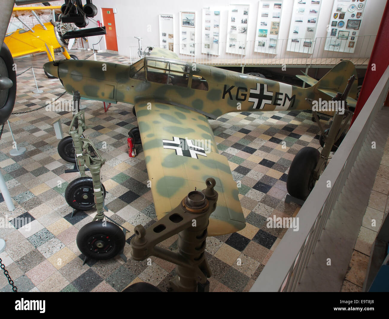 Nord 1002 - German Air Force KG EM at Flugausstellung Hermeskeil, pic3a - Stock Image