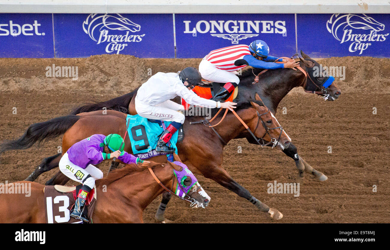 Arcadia, California, USA. 1st Nov, 2014. November 1, 2014: Bayern (7), ridden by Martin Garcia and trained by Bob - Stock Image
