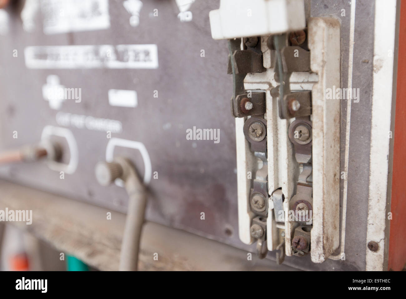 Circuit Breaker Old Stock Photos Images Kinds Of Breakers For Protecting The Illuminating Distributing Broken Vintage Retro Large Electric With Protection Fuse Image