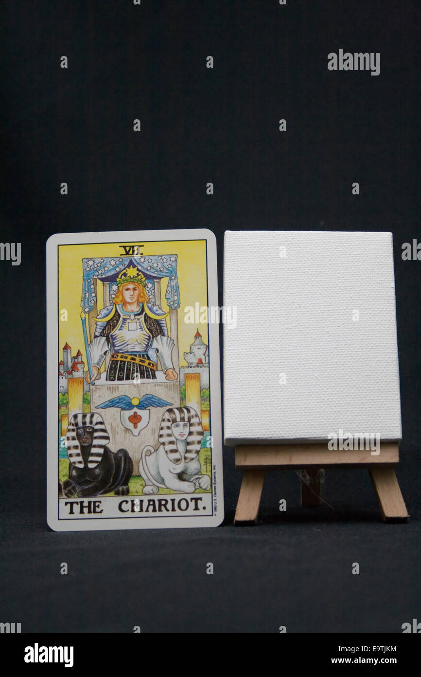 Chariot Tarot Card Stock Photos & Chariot Tarot Card Stock