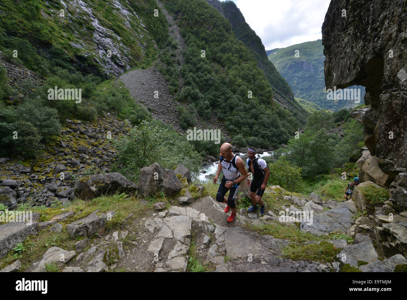 The scenic run up World Heritage valley Aurlandsdalen at