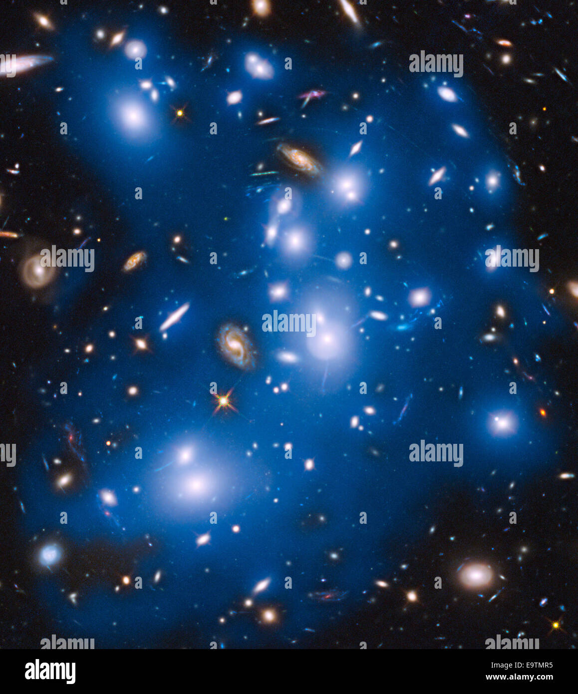 Hubble Sees 'Ghost Light' From Dead Galaxies - Stock Image