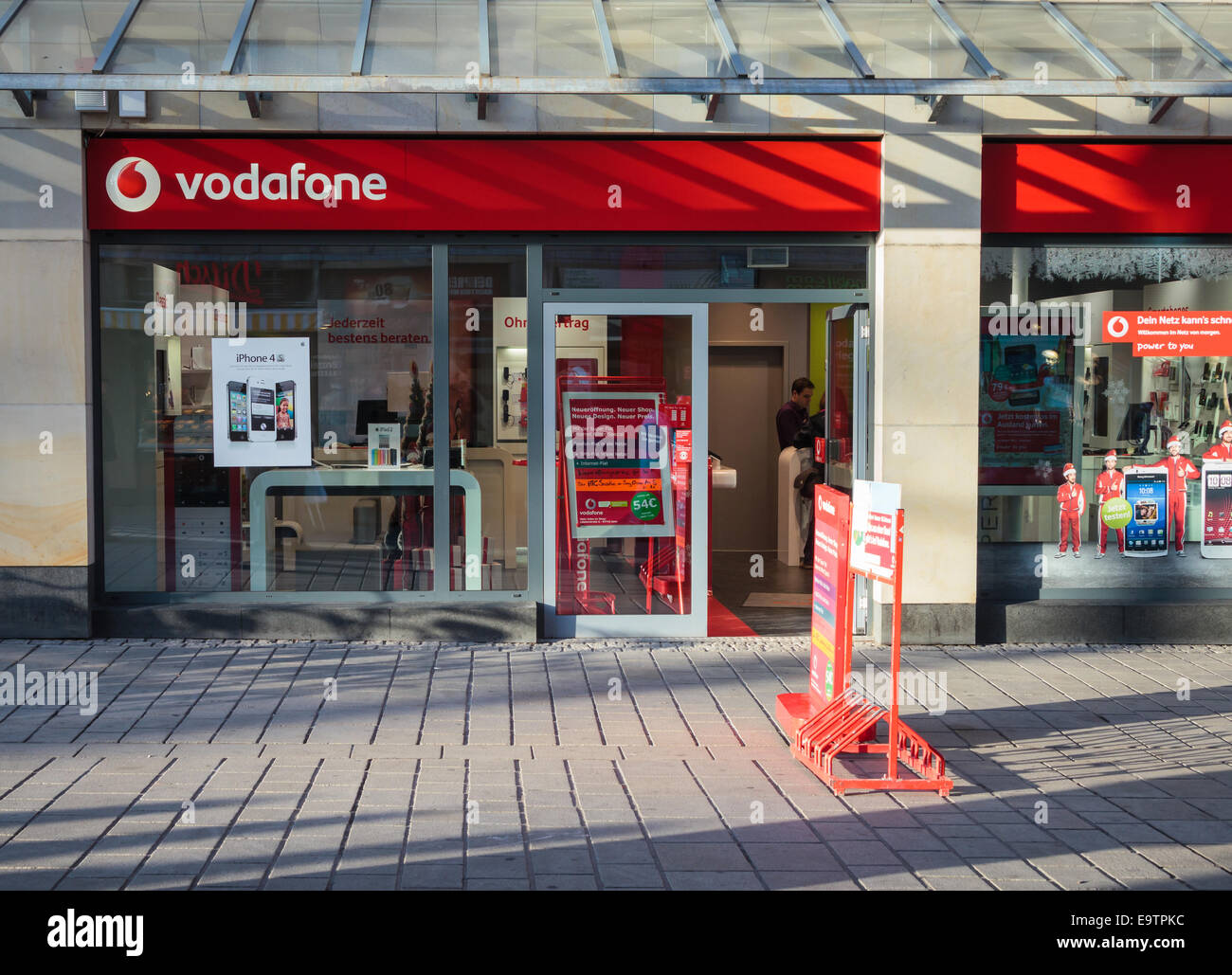 Vodafone store front with iPhone 4S promotion - Stock Image