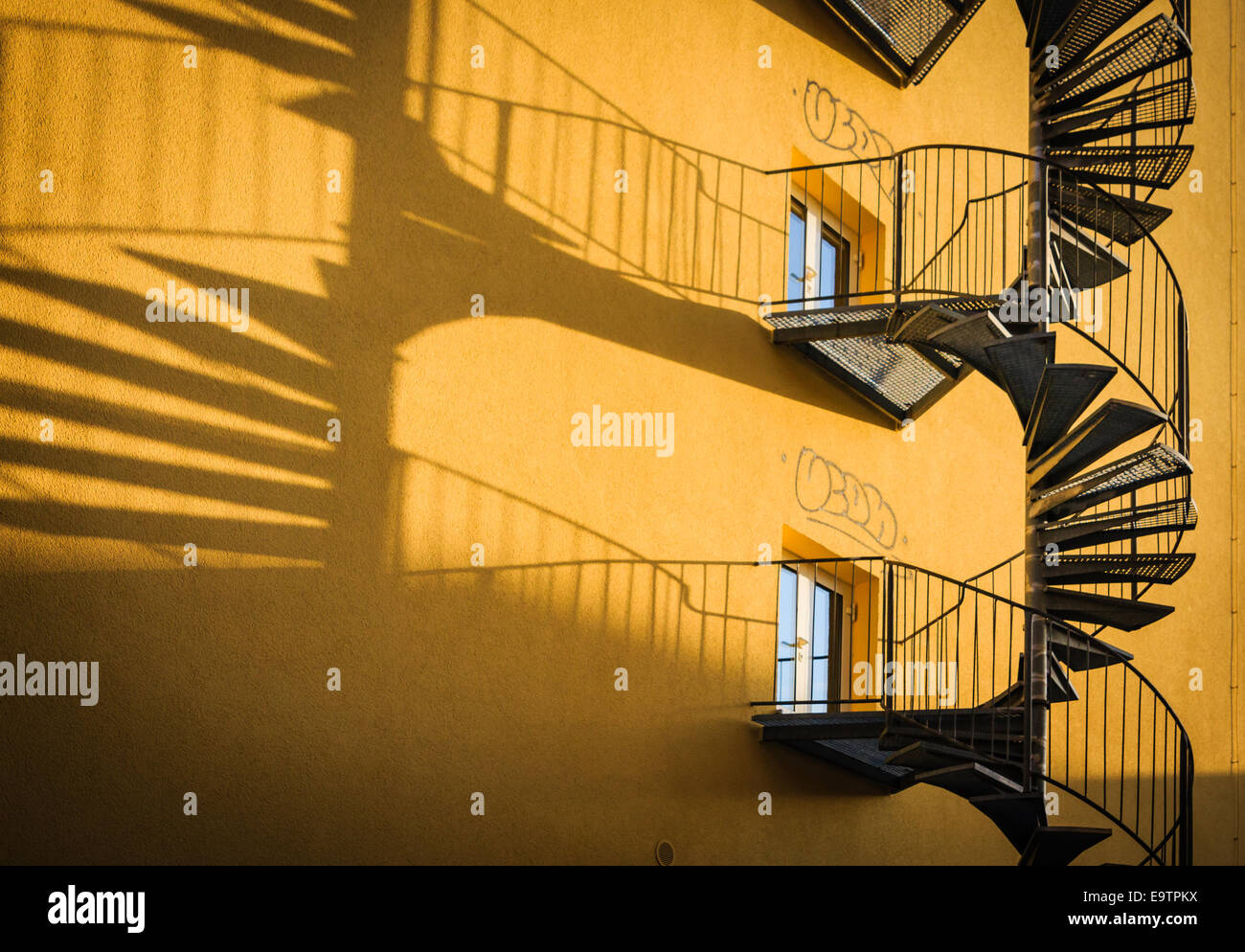 Stairs Fire Escape Stock Photos & Stairs Fire Escape Stock Images ...