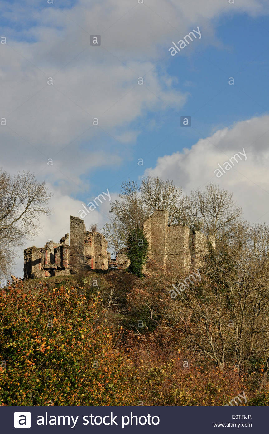 The ruin of Stapleton Castle in Herefordshire, England. - Stock Image