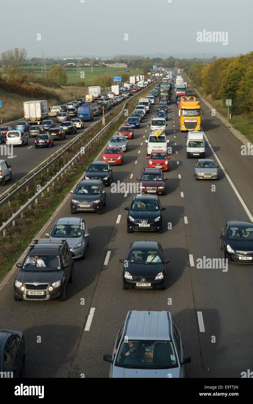 M5 motorway congestion HOMER SYKES - Stock Image