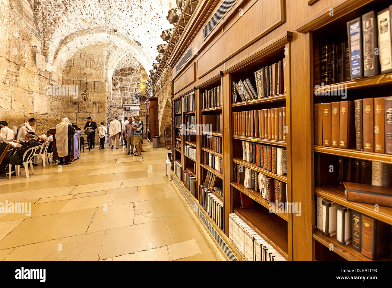 Cave synagogue in Jerusalem, Israel. - Stock Image