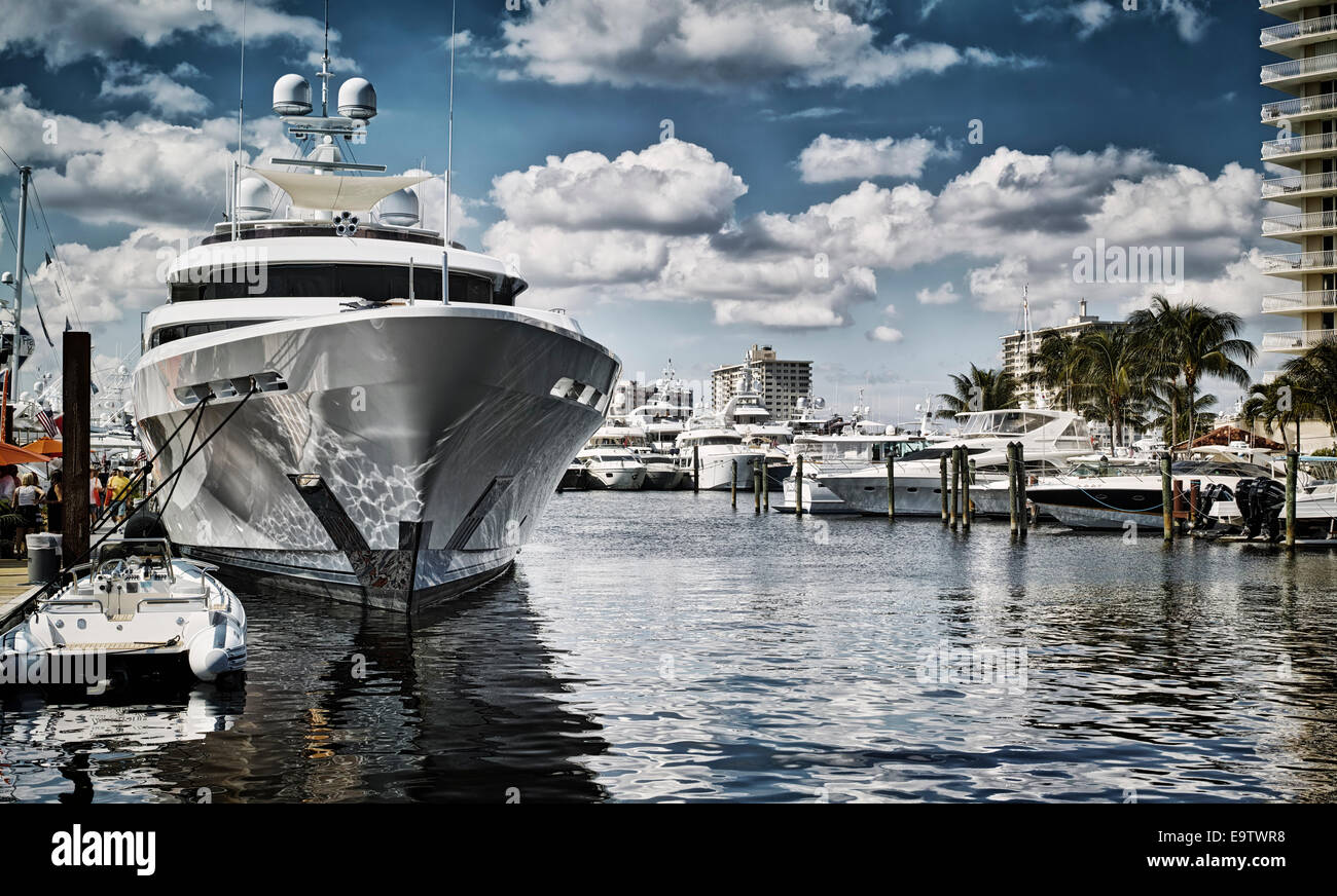 Yachts at Fort Lauderdale Stock Photo