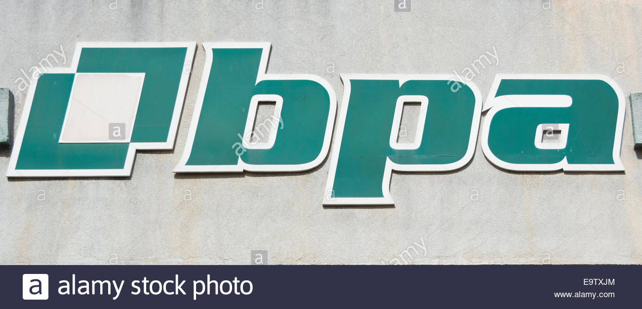 The Popular Bank of Savings Acronym in Spanish (BPA: Banco Popular the Ahorro) is one of the different kind of Banks - Stock Image