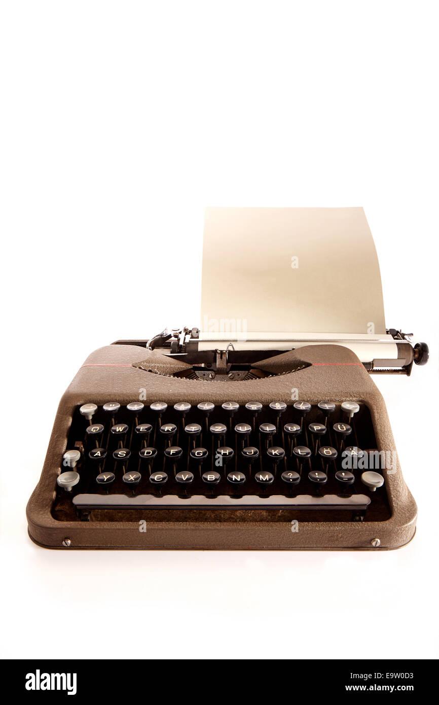 Schreibmaschine Freisteller - Stock Image