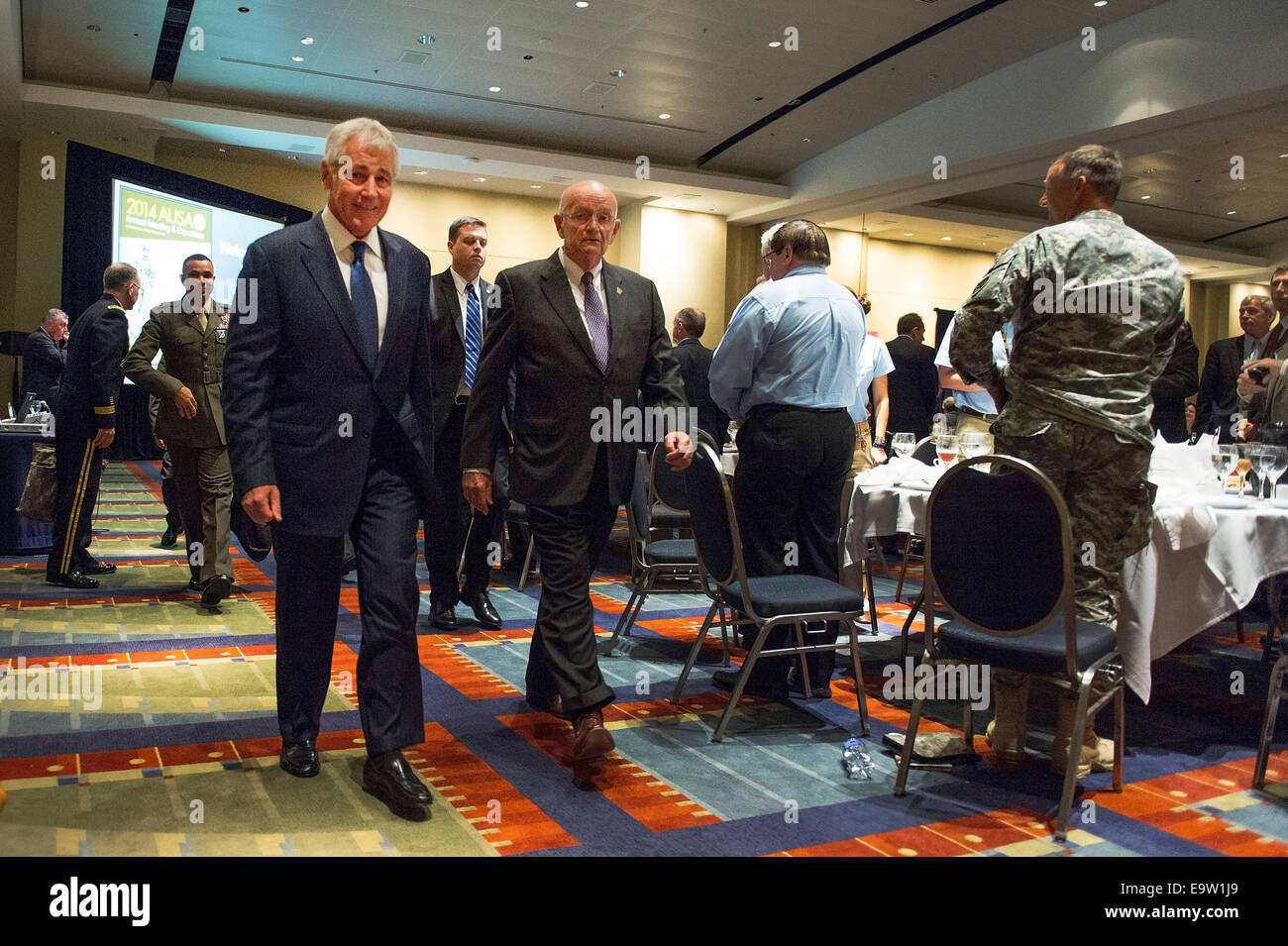 Association of the United States Army (AUSA) President and Chief Executive Officer retired Army Gen. Gordon Sullivan, Stock Photo