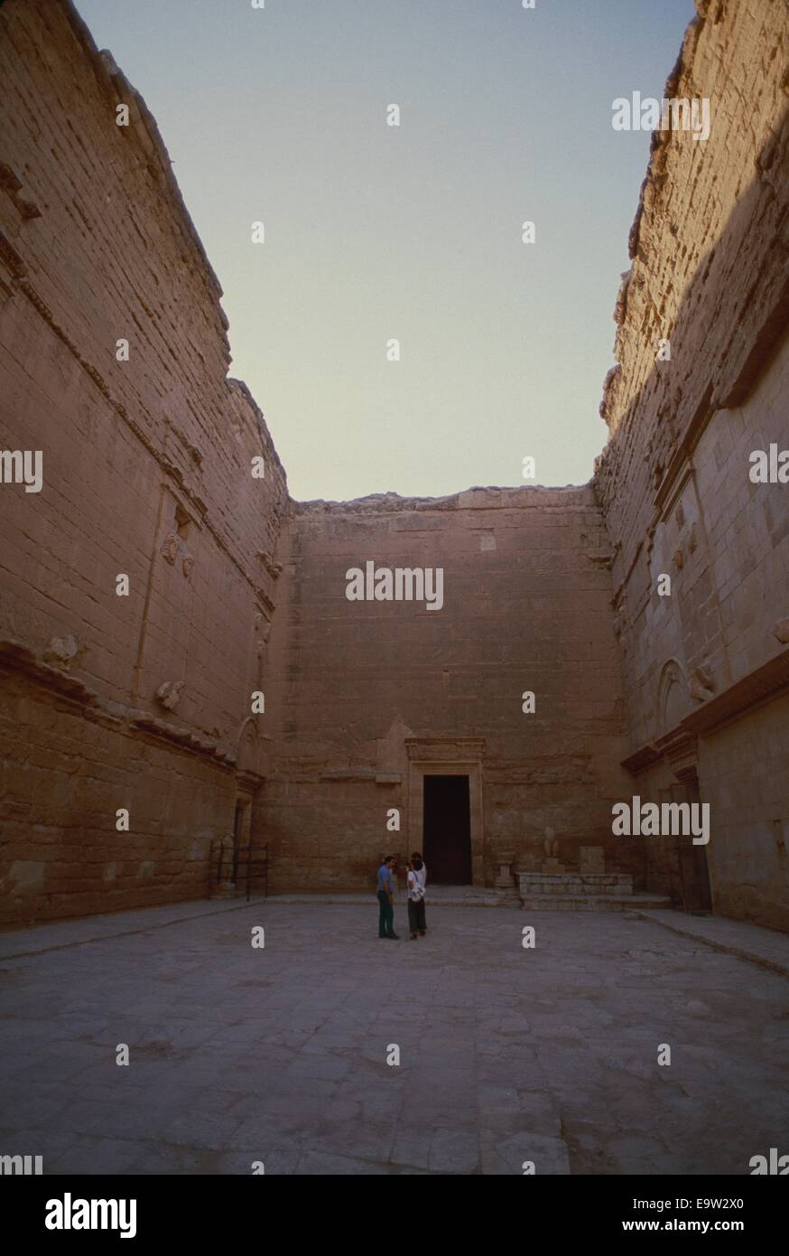 The ancient 3rd century BC pre-Christian temple complex of Hatra in NW Iraq, is now at risk after being taken by - Stock Image