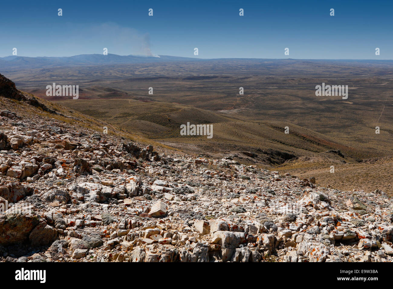 A wide angle panorama of Wyoming - Stock Image