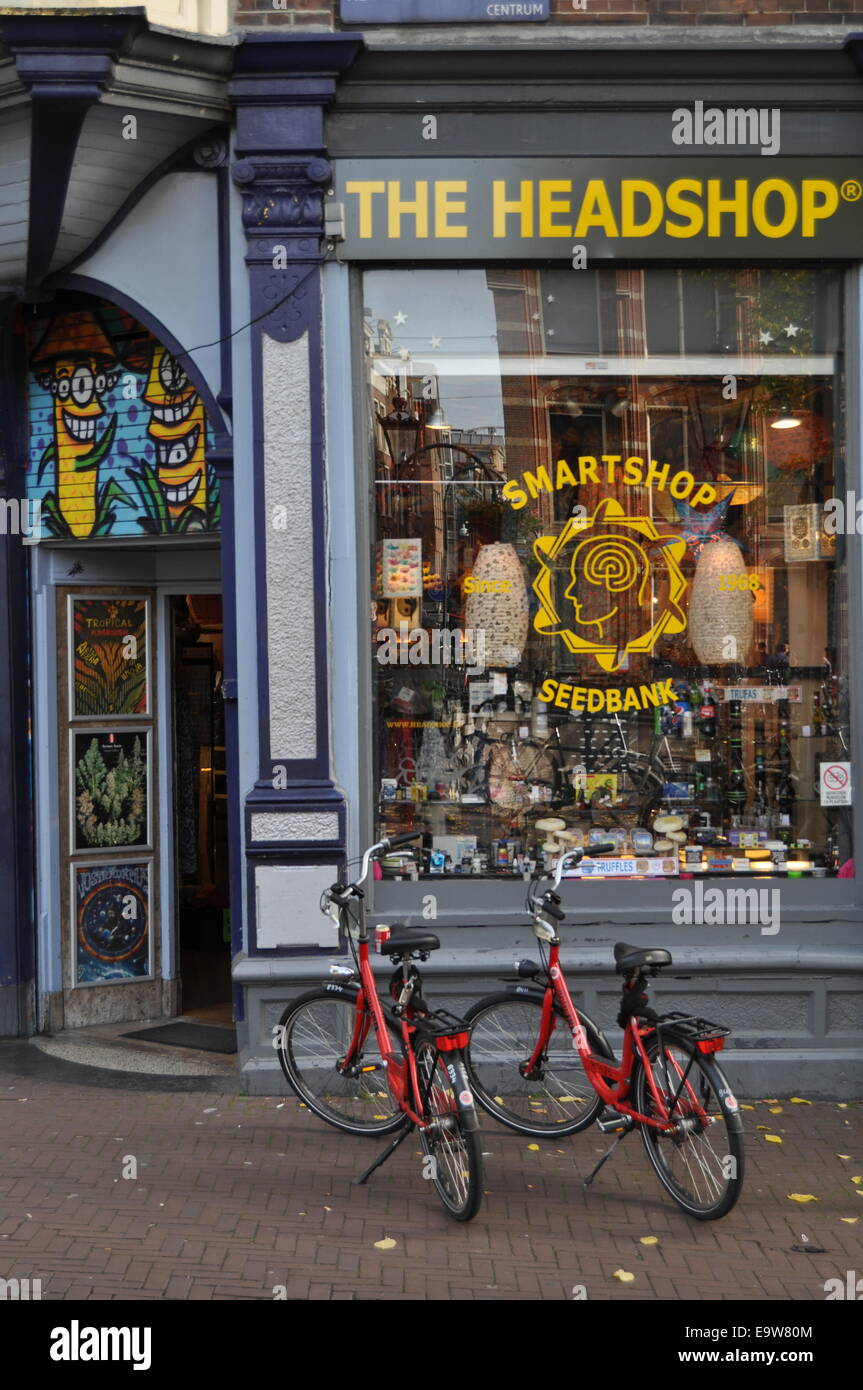 Headshop Amsterdam - Stock Image